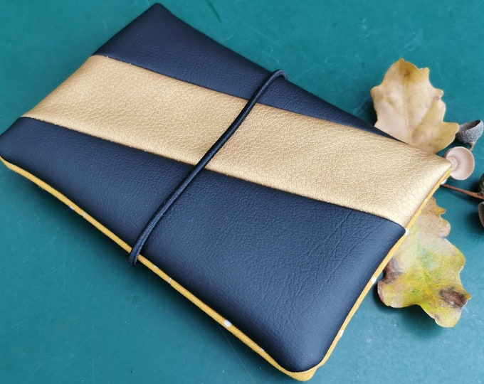 Tobacco bags / tobacco bags / tobacco / rotary bag / cigarette case / rotary bag / pocket for rotary tobacco / gold / black / faux leather