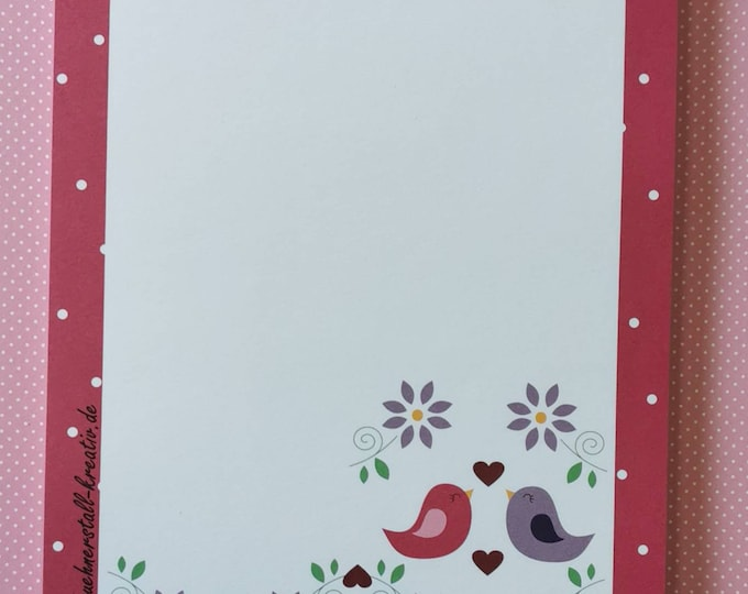Notepad Din A5 / Beep / Unliniert / Writing Pad / Illustration / Print / Note /Letter Block