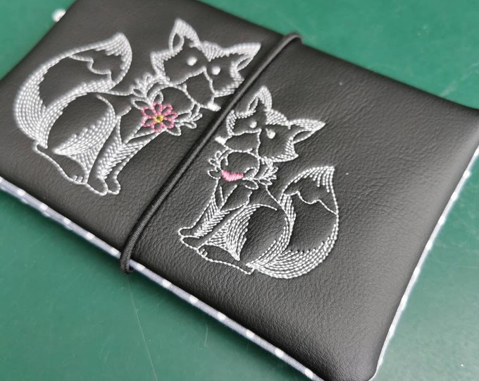 Tobacco bags / tobacco bags / tobacco / rotary bag / cigarette case / rotary bag / bag for rotary tobacco / fox / autumn / garden / doodle