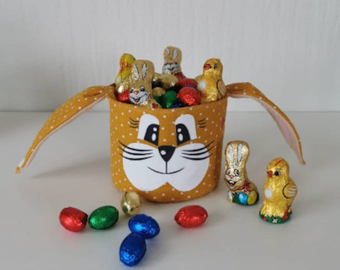 Easter basket / Easter basket / bunny basket / basket / bag / Easter / gift / children / Easter nest / with name / mustard individual