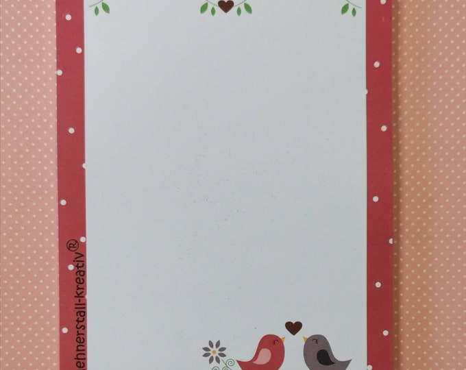 Notepad Din A6 / Beep / Writing Pad / Illustration / Print / Note / Unlined