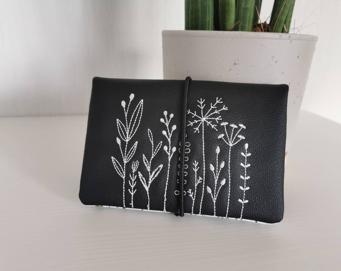 Tobacco Bags / Tobacco Bags / Tobacco / Changing Bag / Cigarette Case / Changing Bag / Pocket Rotary Tobacco / Flowers / Spring / Garden / Doodle