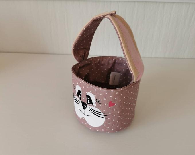 Easter basket / Easter basket / bunny basket / basket / bag / Easter / gift / children / Easter nest / old pink