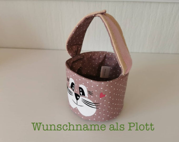 Easter basket / Easter basket / bunny basket / basket / bag / Easter / gift / children / Easter nest / old pink / with name