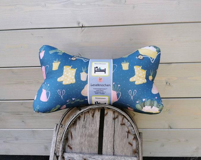 Reading Bones / Reading Pillow / Garden / Flowers / Pillow / Side Sleeper / Relaxation / Backrest / Reading / Neck Pillow / Dots