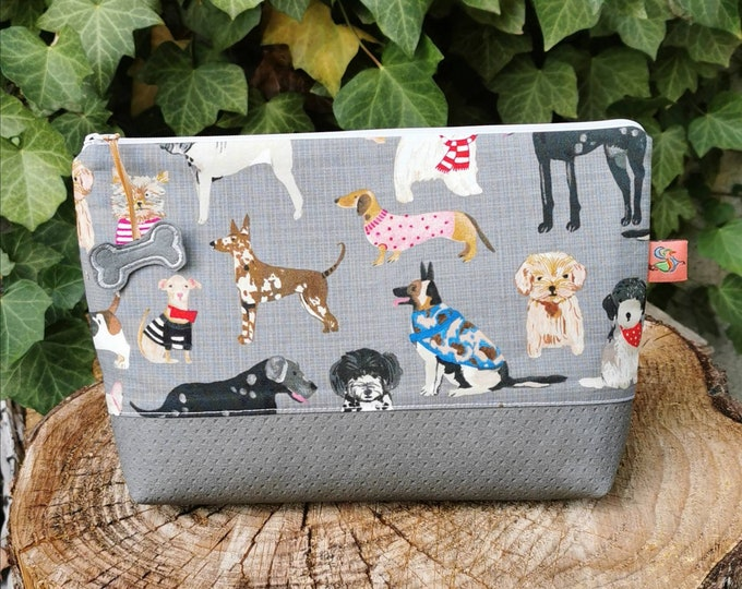 Cosmetic bag / Medicine bags / Make-up bag / Toiletbag / Pencil case / Krimskrams / Travel / Beach / Alexander Henry / Hznd