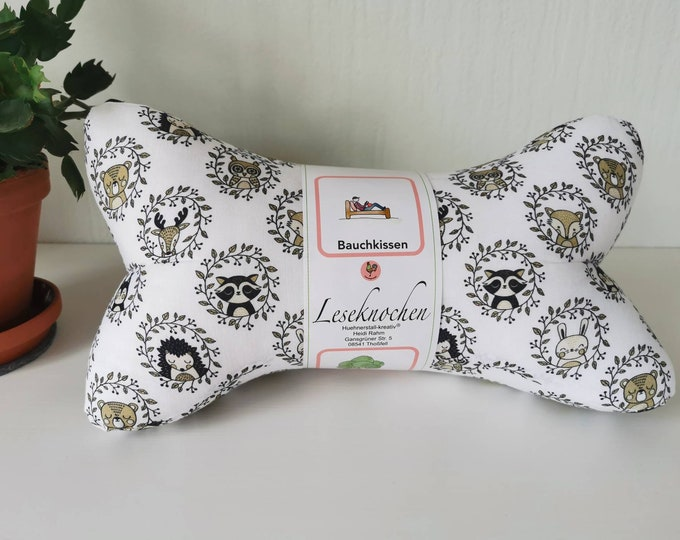Reading bones / reading pillows / relax pillows / relaxation / backrest / reading / neck pillows / forest animals / children / unique / mini / large