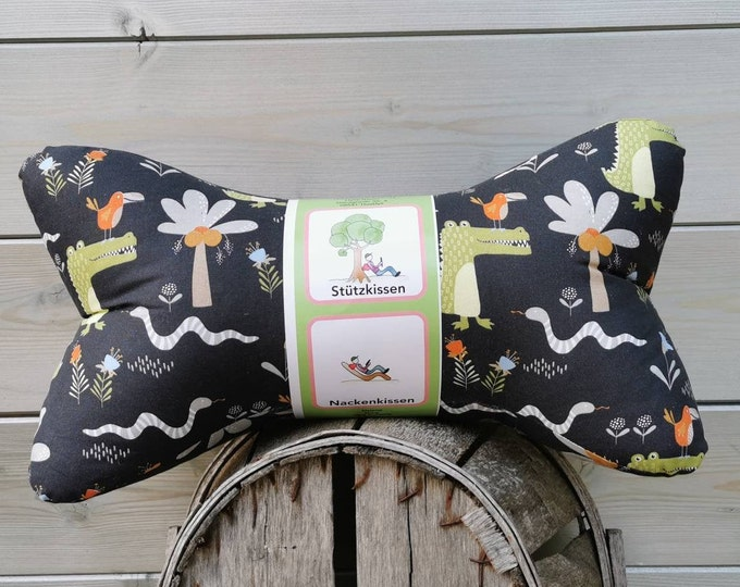 Reading Bone / Reading Pillow / Relax Pillow / Relaxation / Backrest / Reading / Neck Pillow / Crocodile / Kids / Croco Unique / mini / Large