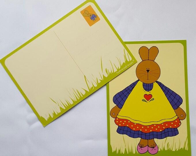 "Postcard ""Hasendame"""