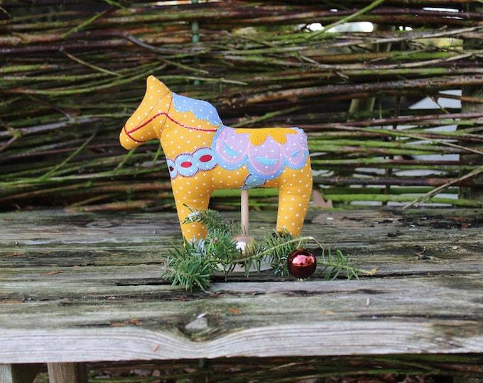 Dala horse / Dala / horse / embroidered Dala horse in fabric / fabric horse / Christmas decoration / Swedish horse / Sweden