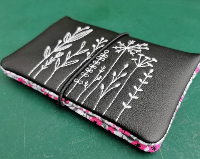 Tobacco bags / tobacco bags / tobacco / rotary bag / cigarette case / rotary bag / bag for rotary tobacco / flowers / meadow / garden / doodle
