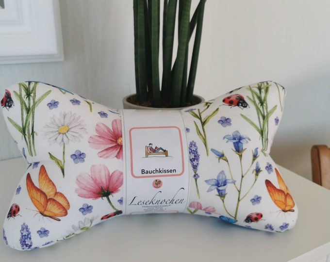 Reading Bones / Reading Pillow / Relax Pillow / Relaxation / Backrest / Reading / Neck Pillow / Hygge / Flowers / Boho