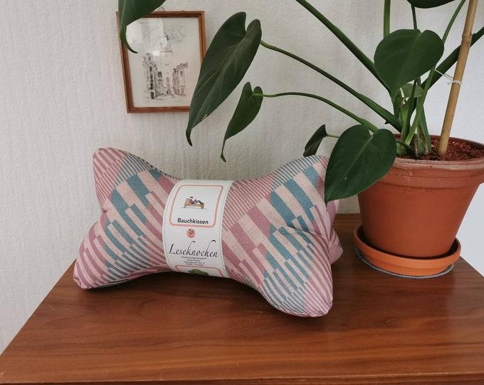 Reading bone / reading pillow / pillow / side sleeper / relaxation / backrest / reading / neck pillow / 70s / pattern