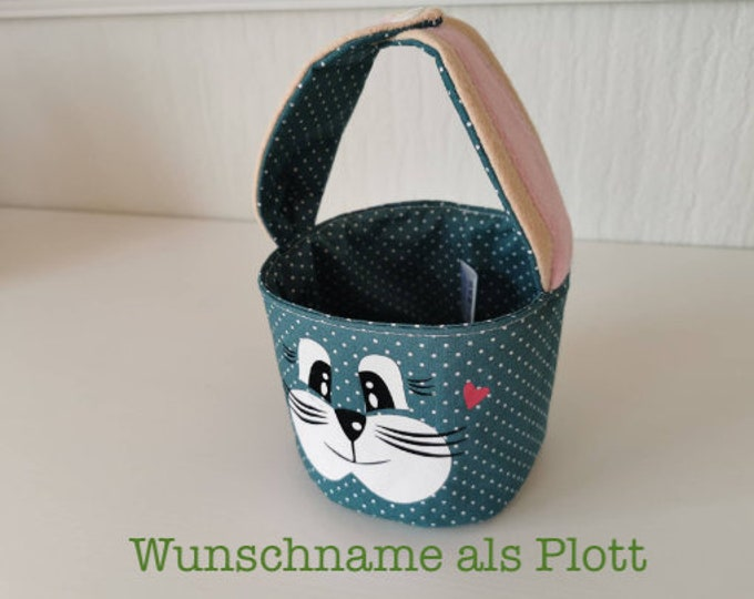 Easter basket / Easter basket / bunny basket / basket / bag / Easter / gift / children / Easter nest / teal / with name