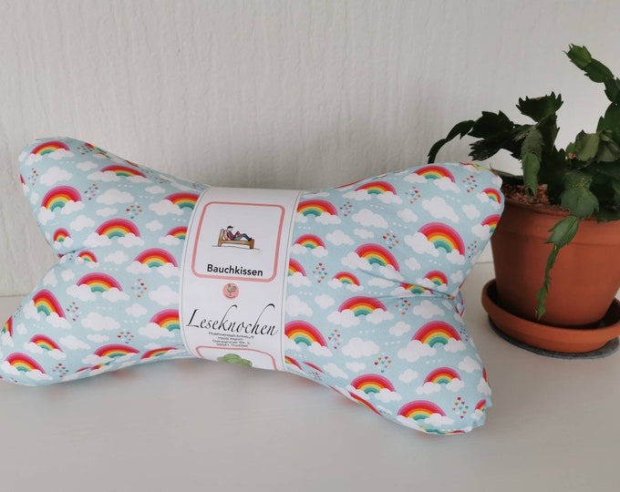 Reading Bone / Reading Pillow / Pillow / Side Sleeper / Relaxation / Backrest / Reading / Neck Pillow / Rainbow / Cloud