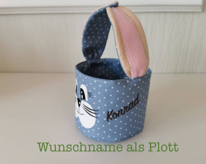 Easter basket / Easter basket / bunny basket / basket / bag / Easter / gift / children / Easter nest / blue / with name