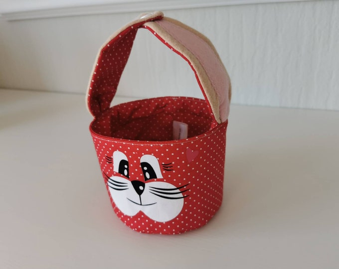Easter basket / Easter basket / bunny basket / basket / bag / Easter / gift / children / Easter nest / red / with name