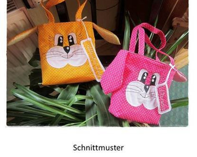 """Embroidery file and Ebook """"bunny face"""" 13x18 frame/Easter/bag/children"""