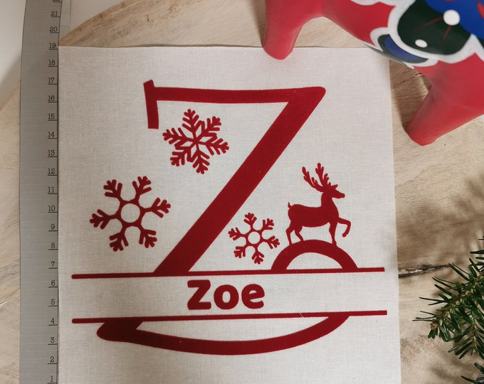 Gift Bag / U - Z / Letter / Sack / St. Nicholas / Christmas / Personalized St. Nicholas Bag / Individual / Christmas Bag / Name