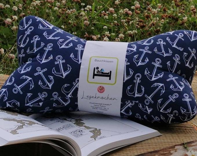 Reading Bones / Reading Pillow / Relax Pillow / Relaxation / Backrest / Reading / Neck Pillow / Maritim / Anchor / Sea / Unique