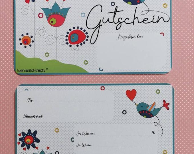 Postcard / Voucher / Card / Birthday / Gift / Gift Voucher / Credit