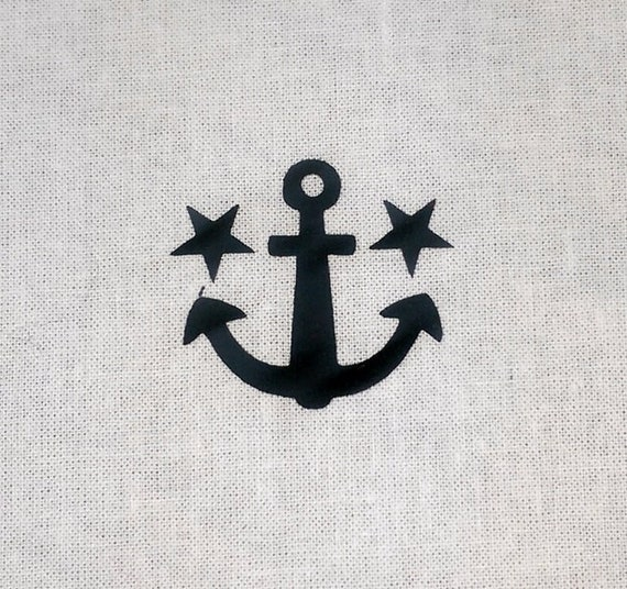 Anchor with 2 stars for ironing