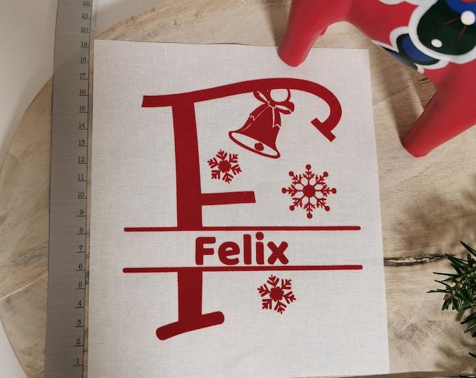 Gift Bag / F - J / Letter / Sack / St. Nicholas / Christmas / Personalized St. Nicholas Bag / Individual / Christmas Bag / Name