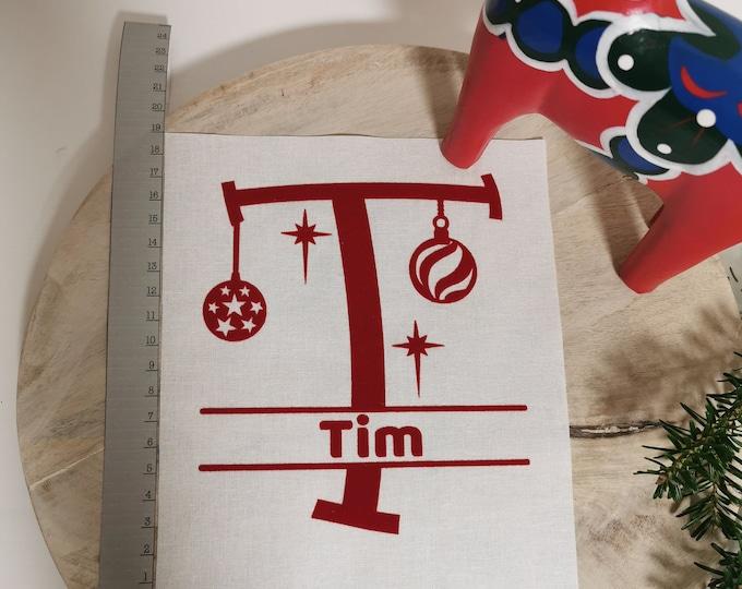 Gift Bag / P - T / Letter / Sack / St. Nicholas / Christmas / Personalized St. Nicholas Bag / Individual / Christmas Bag / Name