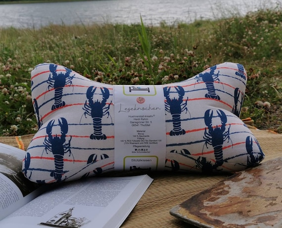 Reading Bone / Reading Pillow / Relax Pillow / Relaxation / Backrest / Reading / Neck Pillow / Maritim / Anchor / Sea / Lighthouse / Unique