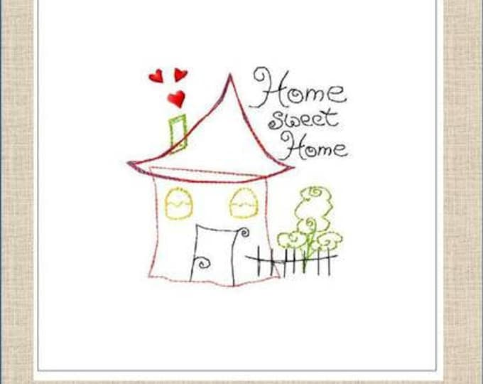 """Embroidery file """"Home Sweet Home"""" 10 x 10 ER Frame"""