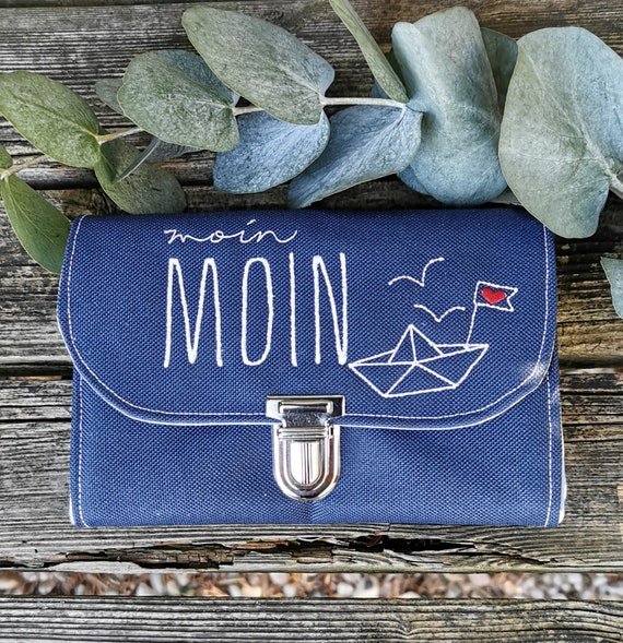 Purse / Purse / Wallet / Ladies' Purse from Oxfordpolyester / Women's Stock Exchange/ Water Repellent / Embroidery / Sea / Maritim