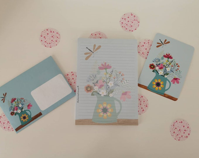 Stationery / Writing Paper / LetterSet / Postcard / Envelope / Illustration / Watercolor / Writing Pad / Writing Paper / Spring