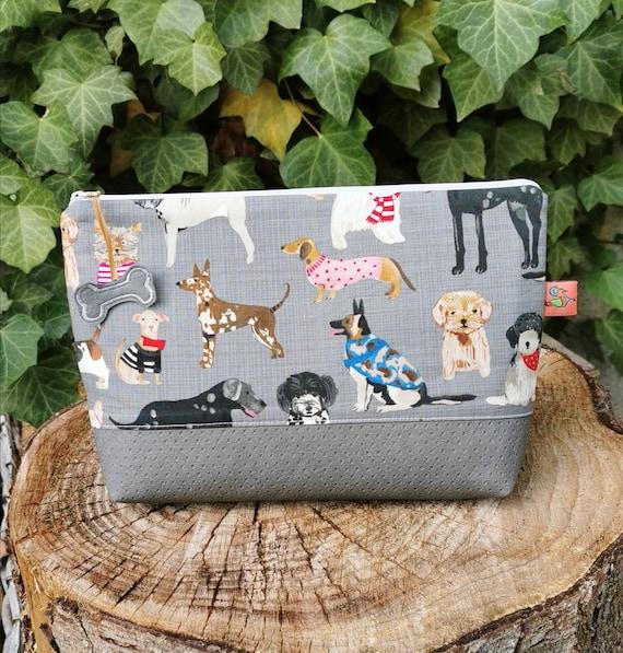 Cosmetic bag / Medicine bags / Make-up bag / Toiletbag / Pencil case / Krimskrams / Travel / Beach / Alexander Henry / Frida Kahlo