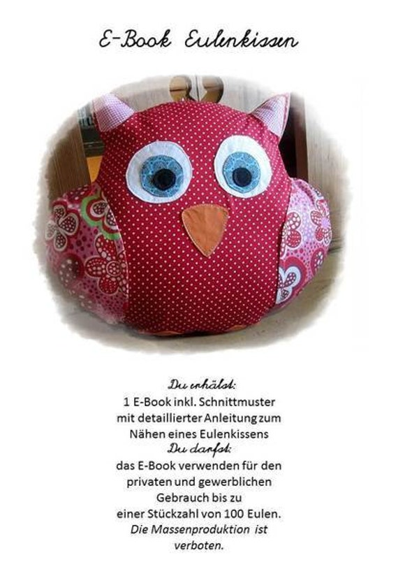 Instructions/Ebook owl pillows/for self-sewing/pillow/owl