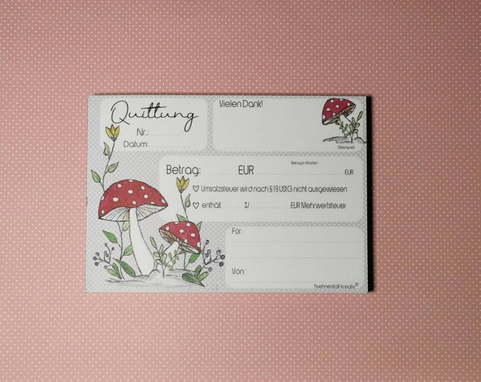 Receipt block A6 - also for small business owners with a puncture - copykit /receipt / permeative / flower meadow / watercolor
