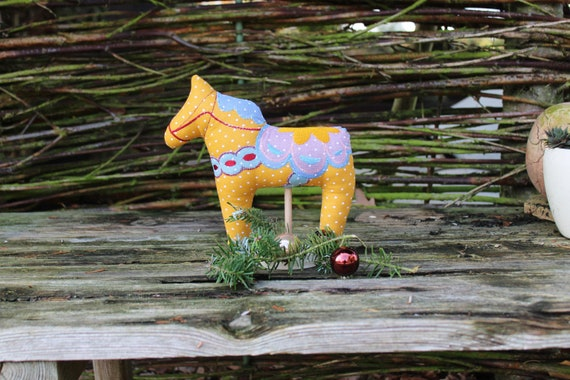 Dala horse / Dala / horse / embroidered Dala horse in fabric / fabric horse / Christmas decoration / Swedish horse / Sweden