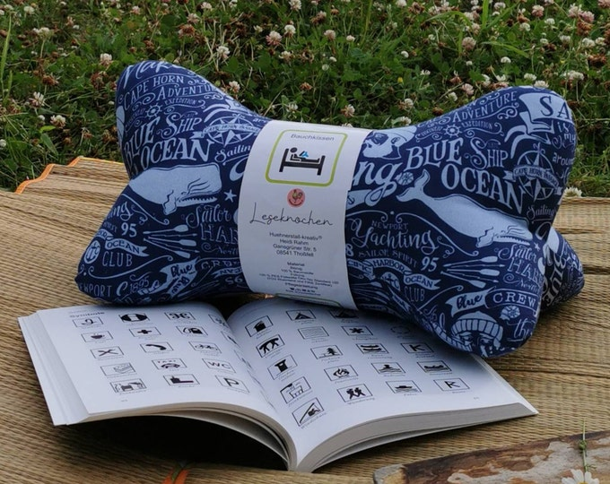Reading bone / Reading pillow / Relaxation pillow / Relaxation / Back support / Reading / Neck pillow / Maritime / Anchor / Sea / Lighthouse / Unique