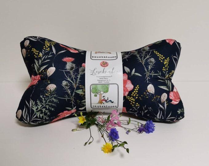 Reading bone / Reading pillow / Relaxation pillow / Relaxation / Back support / Reading / Neck pillow / Meadow flower / Children / Field flowers / mini large