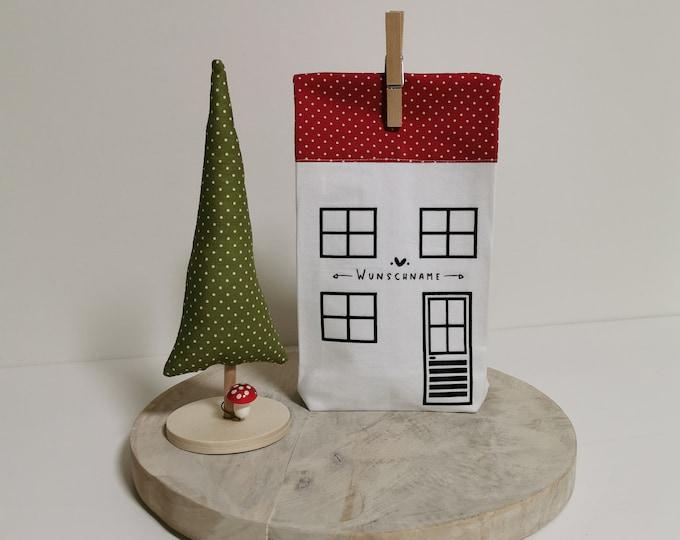 Gift Bag / Name / Christmas Tree / Sack / St. Nicholas / Christmas / Personalized St. Nicholas Bag / House of Lights / Wish Name