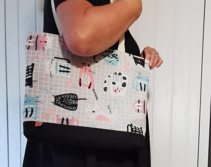 Shoulder bag / shoulder bag / bag / cloth bag / cats