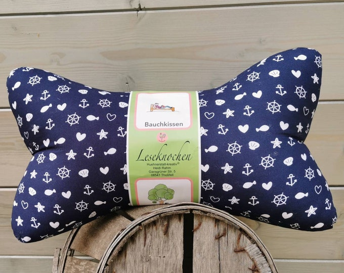 Reading Bone / Reading Pillow / Relax Pillow / Relaxation / Backrest / Reading / Neck Pillow / Boat / Kids / Unique / mini / Large / Anchor