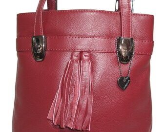 b96ab09fb2372 LEDER Rucksack LISSABON - bordeaux - Tasche vario leather backpack bag  handbag
