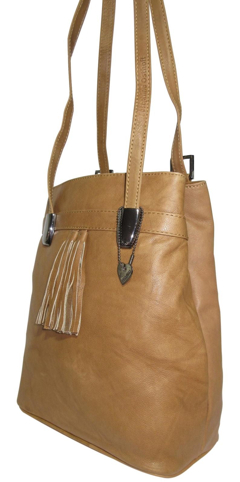 a132216903803 LEDER Rucksack LISSABON safari Tasche vario Shopper braun
