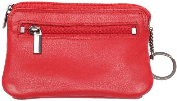 Rot mit RFID Leder Schlüsselbörse  SPORT 3 RV Schlüsseletui Schlüsseltasche