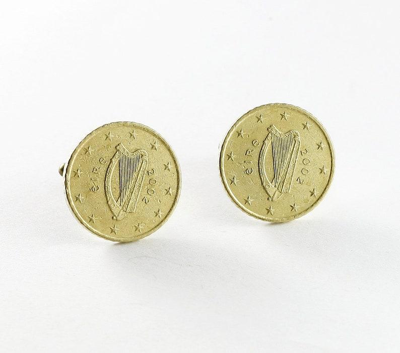 Cufflinks 50 Euro Cent Ireland Coins