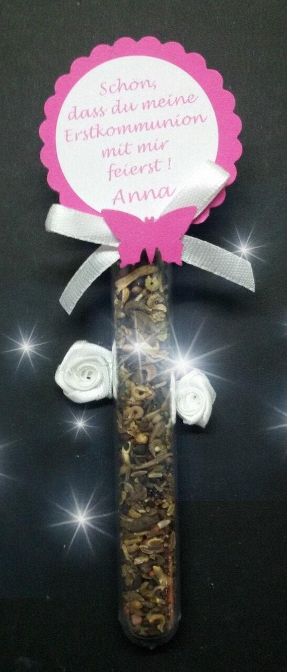 Gastgeschenk Blumensamen Kommunion Taufe Firmung Samen Wunschtext Seifenfee Pink Individuell Konfirmation Hochzeit Schmetterlingstreff