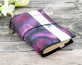 Travelers Journal A5-A7, space pink, vegan leather (SnapPap)