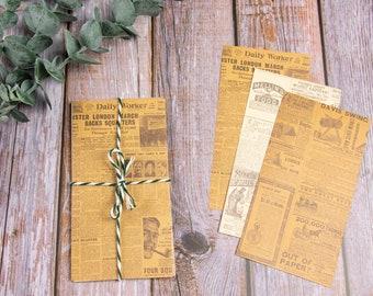 Antique Paper Set 2, 8.5 x 16 cm, 20 sheets