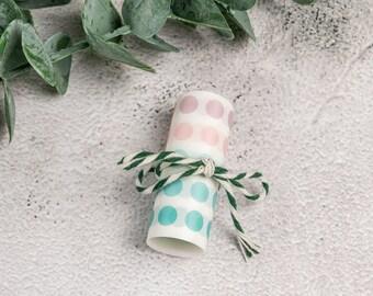 Dot Washi Tape, pink/turquoise, 6 cm x 0.5 m (8 mm dot)