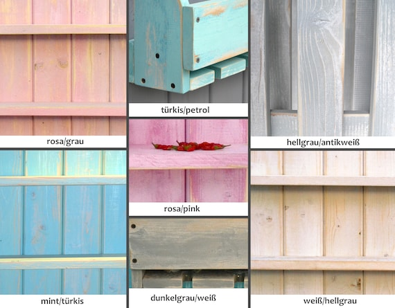 Vintage Shabby Gewürzregal Küchenregal Individuell Rosa Pink Holz Gewürzboard Wandregal Gewürzboard Küchenablage Gewürzhalter Landhaus